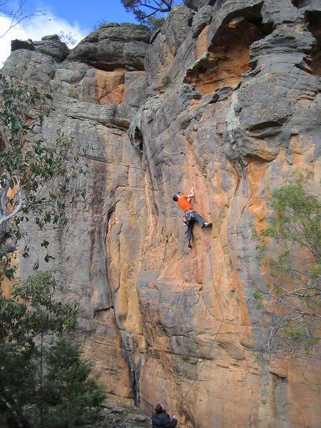 Adam on Hang On(20), Black Ians Rocks, Grampians