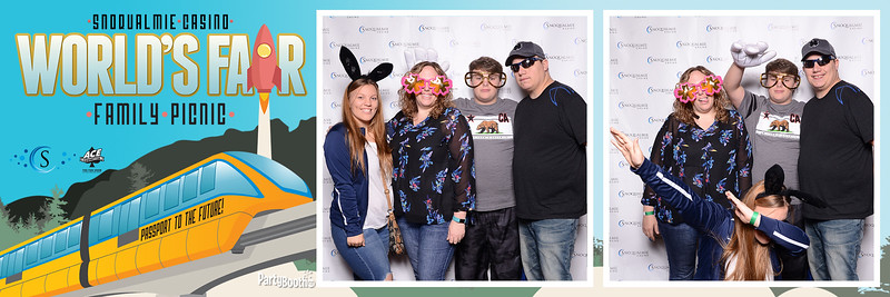 Welcome to The World's Fair with the Snoqualmie Casino 2017 Family Picnic! Seattle Photo Booth - PartyBoothNW - Tonight We PartyBooth!