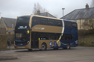 15348, YP67XBX, Stagecoach West, Chippenham Bus Station.