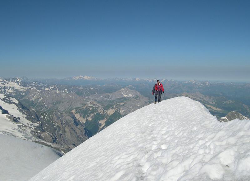 Grande Casse, the summit ridge