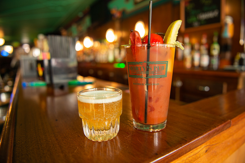 Bloody Mary at Morty's Pub in Bayfield, Wisconsin