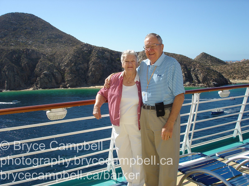 Don and Gisele on Cruise in Mexico, January 2011 after the Rose Bowl.