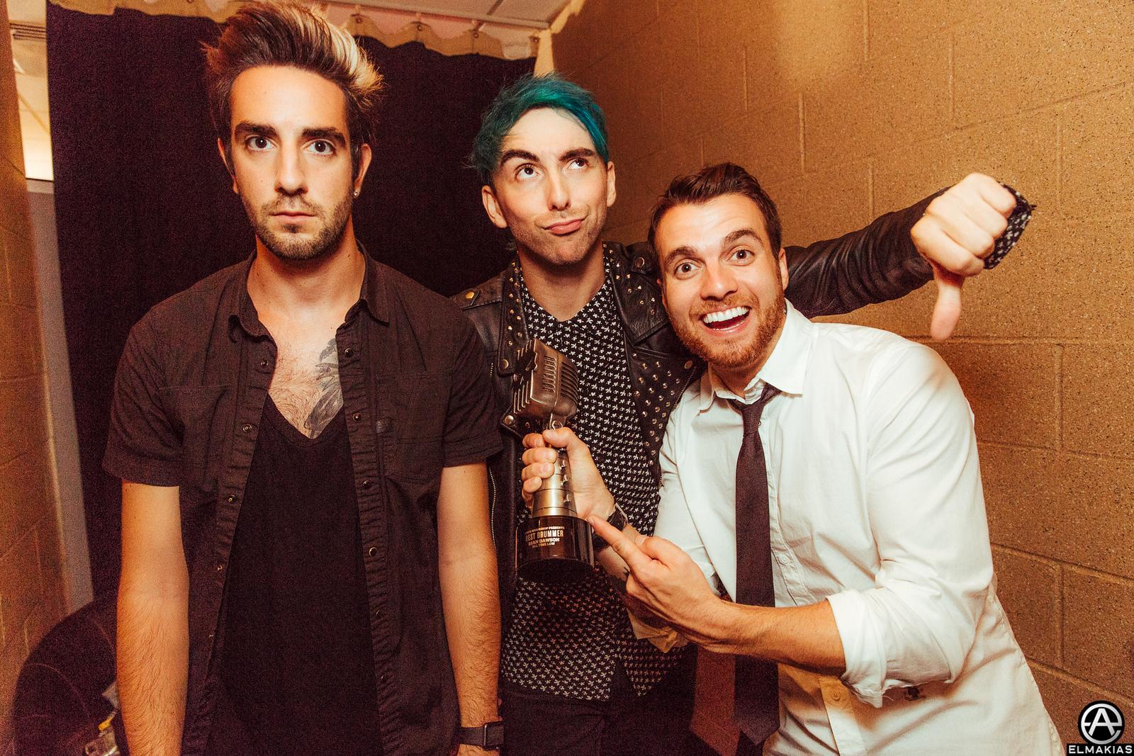 Alex Gaskarth, Jack Barakat, and Rian Dawson of All Time Low at the Alternative Press Music Awards 2015 by Adam Elmakias