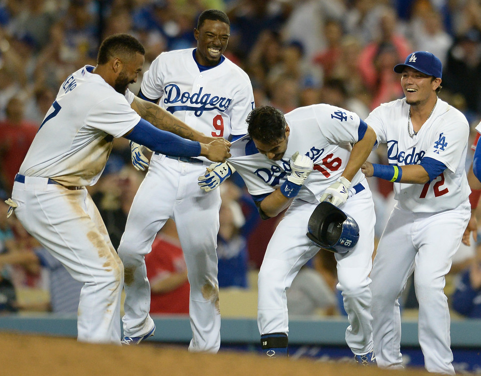 . Dodgers defeated the Angels 5-4. Los Angeles, CA. 8/5/2014(Photo by John McCoy Daily News)