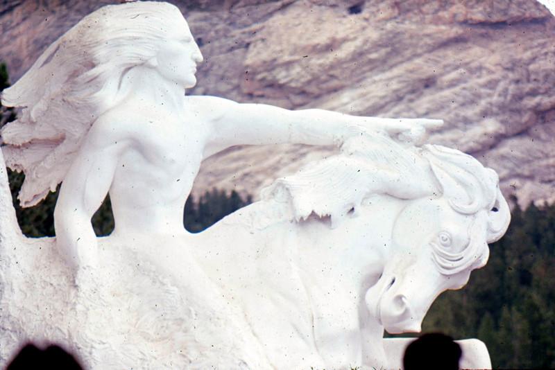 1969-08 - Crazy Horse Monument sculpture SD