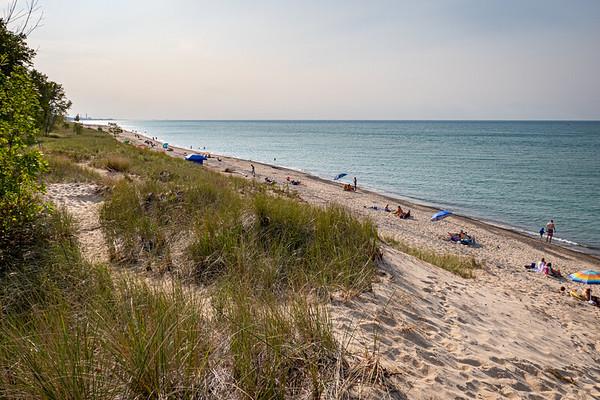 Indiana Dunes National Park Along Lake Michigan