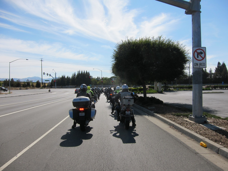 Getting ready to enter Almaden Expressway.