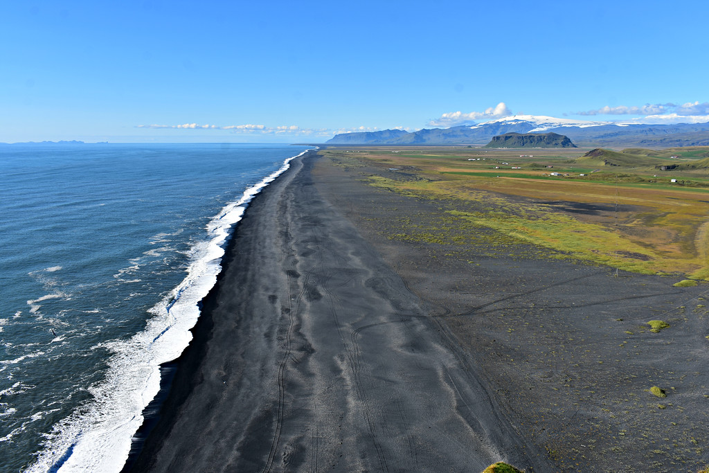 View of Southern Iceland's coastline from Dyrhólaey