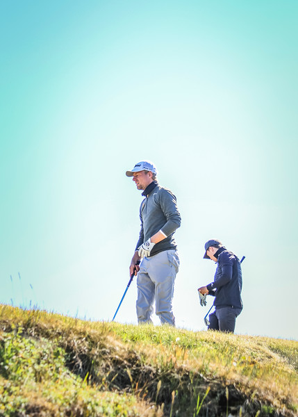 Rúnar Arnórsson, GK, á 2. teig á Garðavelli.  Mynd/seth@golf.is