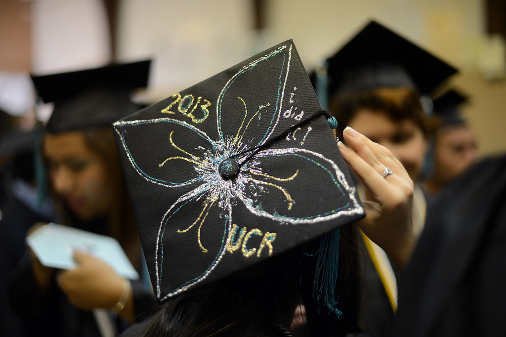 . Commencement ceremonies at Daniel Pearl Magnet High School in Lake Balboa. (Hans Gutknecht/Los Angeles Daily News)
