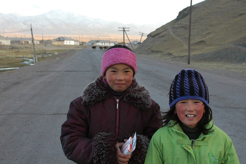 Ruddy Kyrgyz Kids - Sary Tash, Kyrgyzstan