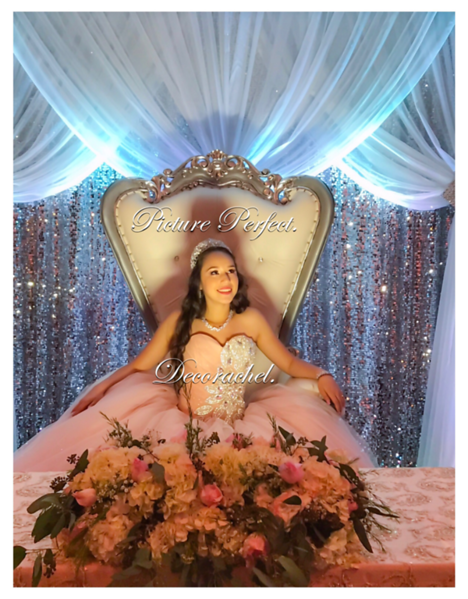 Backdrop with Princess Throne