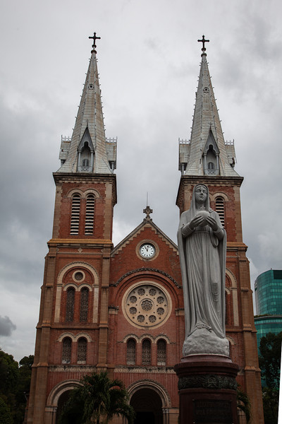 The Notre Dame Cathedral in District 1 of Ho Chi Minh City (Saigon).