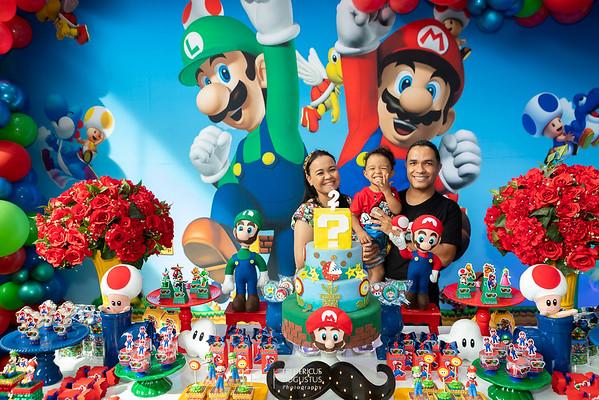 Festa do Super Mario Bros de 2 anos do Emanuel no Algazarra Buffet Infantil