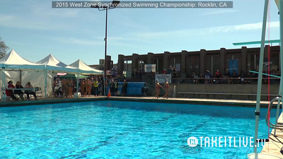 E08 - Junior Free Duet - 2015 Western Zone Synchronized Swimming Championships - Livesynchro Powered by: Takeitlive.tv
