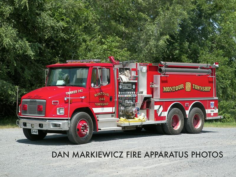 MONTOUR TOWNSHIP FIRE CO. TANKER 242 1996 FREIGHTLINER/CENTRAL STATES TANKER