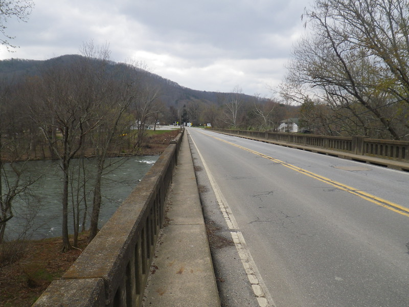 Crossing the French Broad River to get back to base camp after a 14.5-mile day hike.