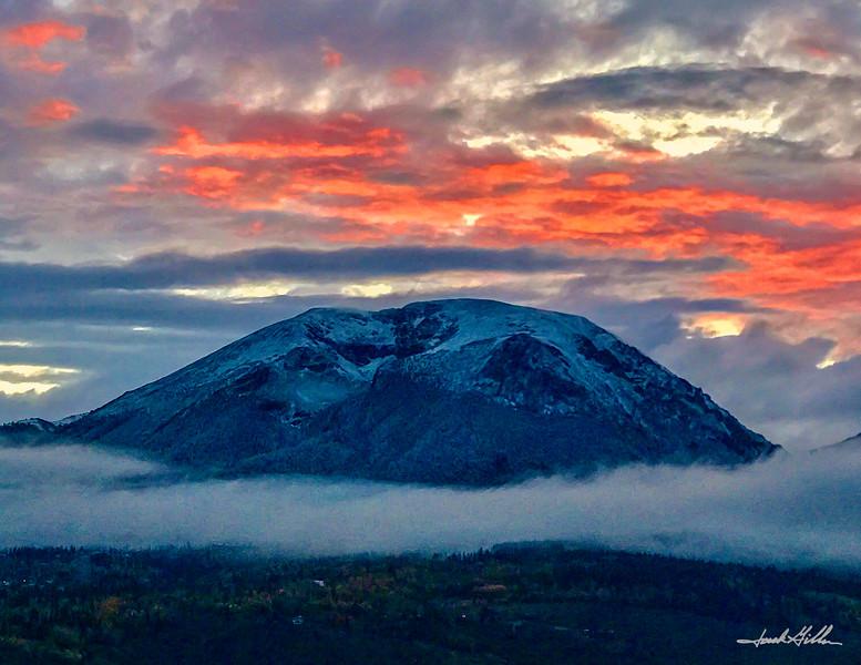 Buffalo Mountain in Clouds