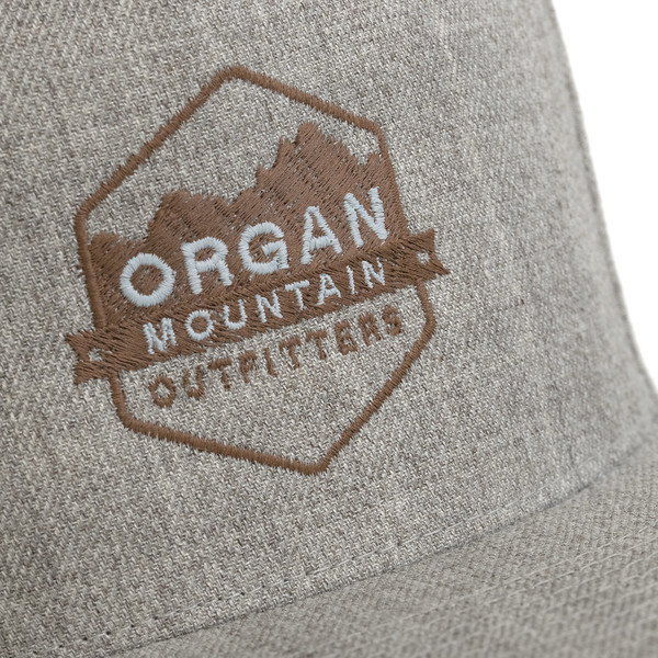 Outdoor Apparel - Organ Mountain Outfitters - Hat - Wool Blend Snapback - Heather Grey Close-up.jpg