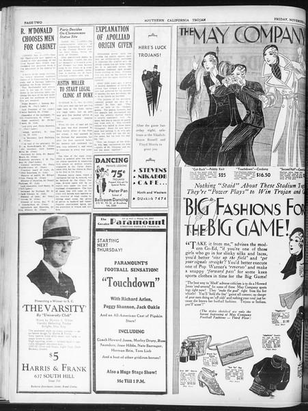 Daily Trojan, Vol. 23, No. 41, November 06, 1931