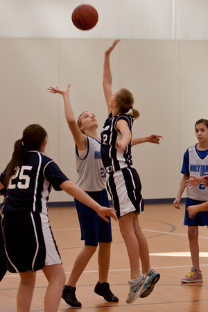 Jan 8 - 7th Gr Girls Blue Basketball vs Holy Family