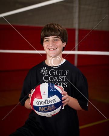 2011 Volleyball Boys Middle School SJS Portraits