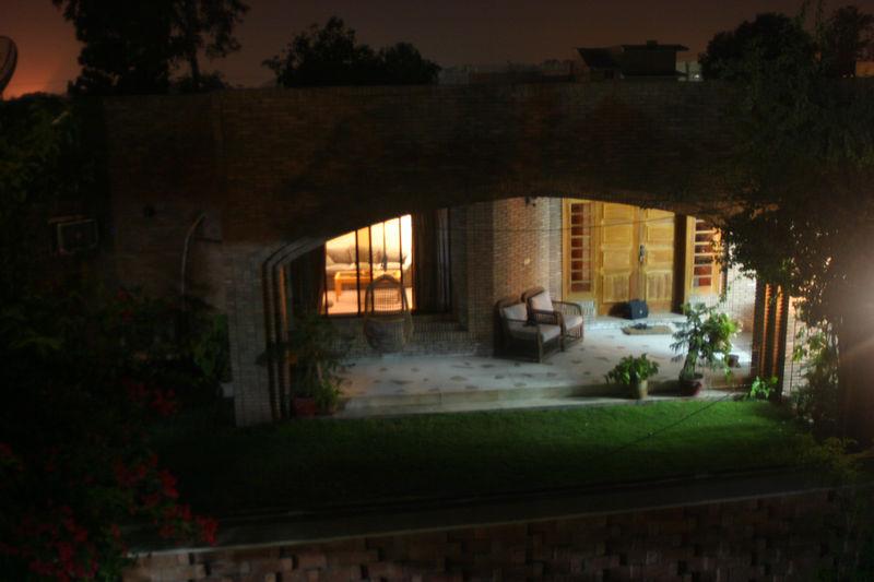 Aunty Saeeda Seema's house at nighttime