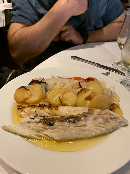 our lunch at Ruffino's - fresh baked fish.