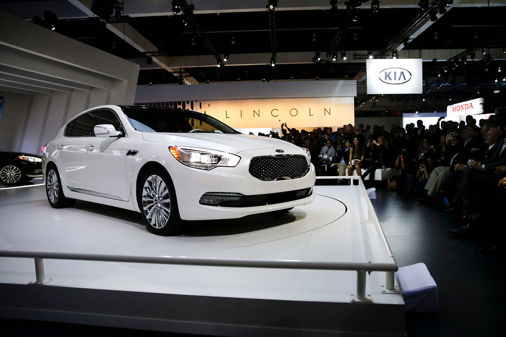 . The new 2015 Kia K900 is introduced at the Los Angeles Auto Show on Wednesday, Nov. 20, 2013, in Los Angeles. (AP Photo/Jae C. Hong)