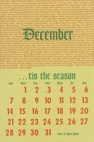 December, 1975, Out of Sorts Pres