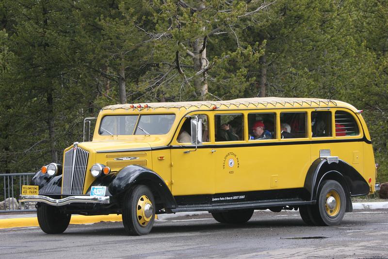 Yellowstone tourist bus