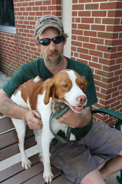 Man with Dog, from McAdoo Dog Rescue Story, Coaldale (7-17-2012)