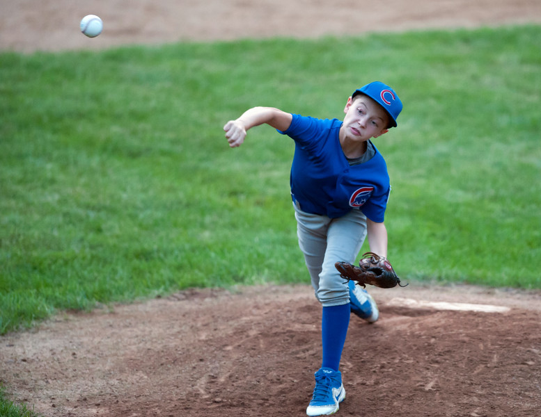 08/20/18  Wesley Bunnell | Staff  The Bristol Little League City Series on Monday night featuring the Cub defeating the White Sox at Frazier Field.  Gabriel White (3).