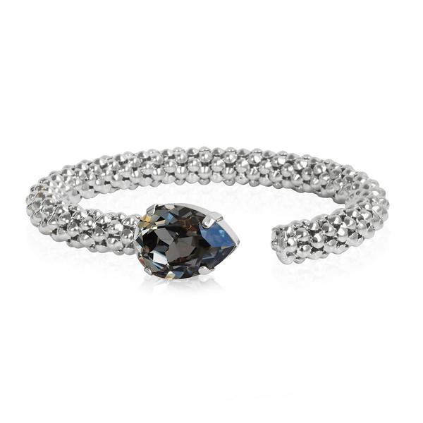 Classic Rope Bracelet / Black Diamond / Rhodium