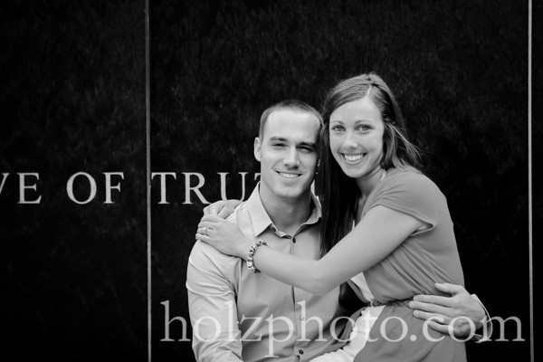 Kristina and Travis B/W Engagement Photos