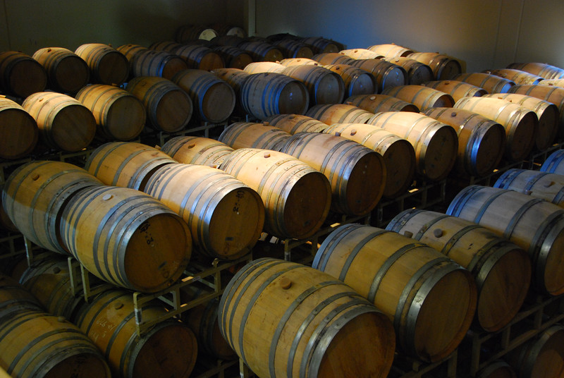 Barrels being aged at Sterling.