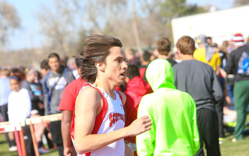 Alliance Invitational-Scottsbluff's Matthew Barraza in the 1600. Finished first in a time of 4:39.30
