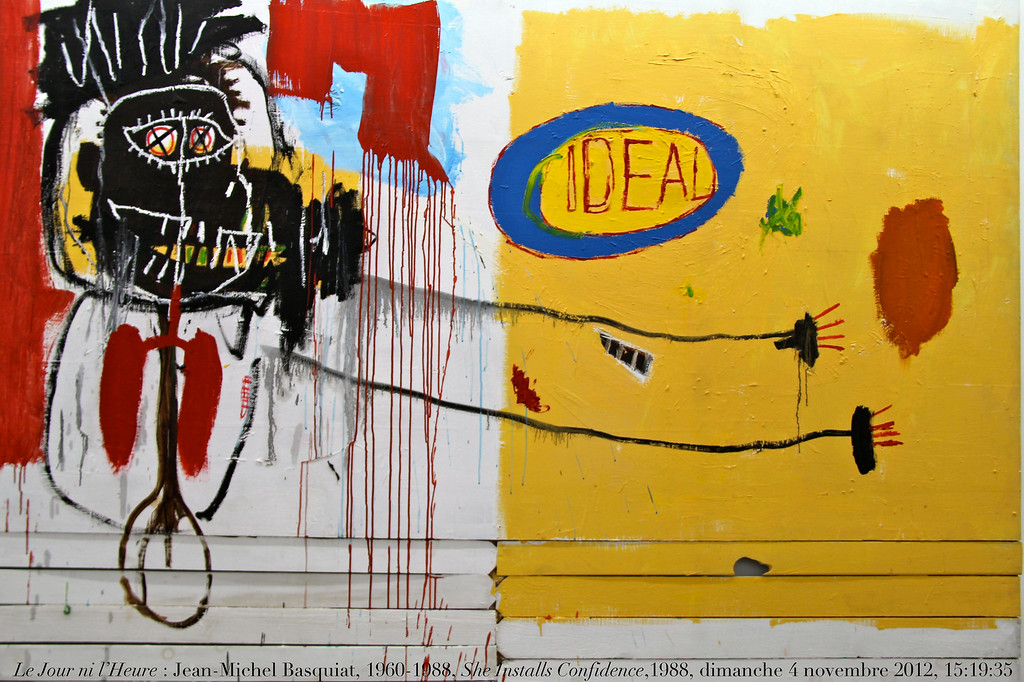 Le Jour ni l'Heure 4323 : Jean-Michel Basquiat, 1960-1988, She Installs Confidence(s?) and Picks up his Brain like a Salad, coll. Yvon Lambert.
