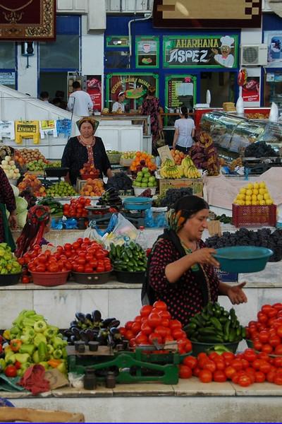 Ripe Tomatoes at Gulustan Market - Ashgabat, Turkmenistan