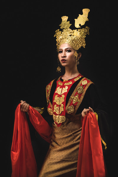 Debb in Melanau costume