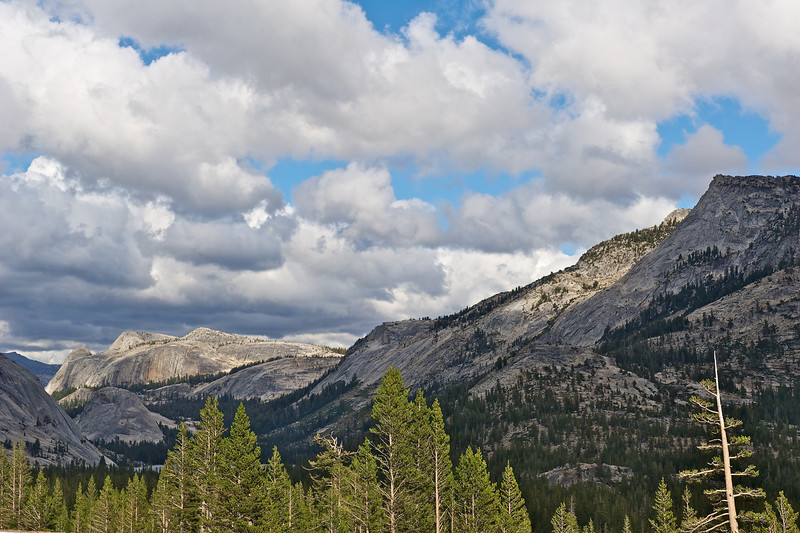 Granite Domes near Tuolumne Meadow, Yosemite National Park, California