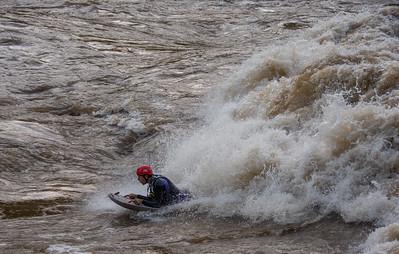 2018-09-28 New River Dries at 60,000CFS (@Thurmond)