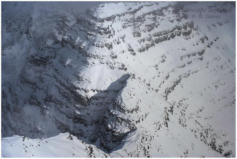 Horns of Alligin under deep snow