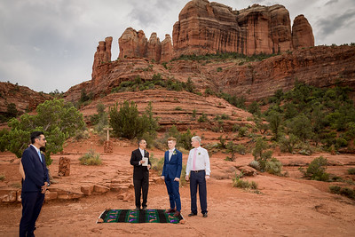 Back 'O Beyond --Cathedral Rock Trail Sedona Wedding