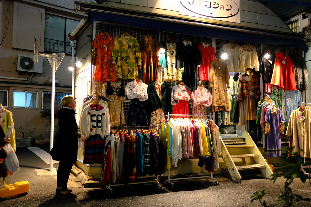 One of the many vintage clothes shops in Shimokitazawa.