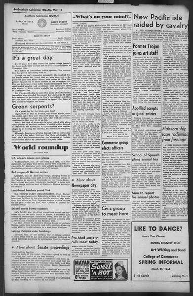 The Trojan, Vol. 35, No. 95, March 18, 1944