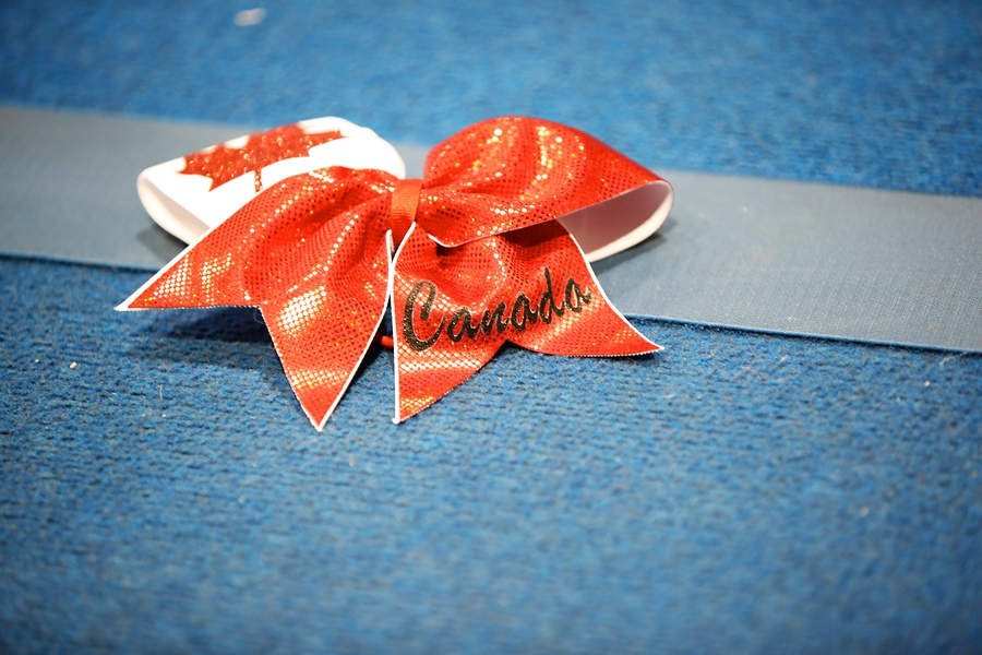 Team Canada Cheerleading Bow