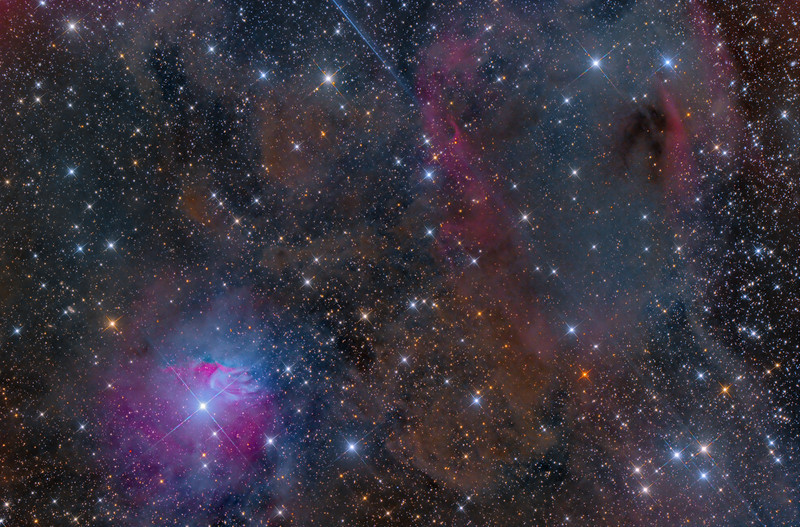 VDB 38, Barnard 223  LDN 1588,1589,1590 CGN 44 LBN 869,871,872 SH2-265  ASA N10 F3.59 FLI Microline 11002 OSC NMSkies Remote Mayhill, NM 20X1200 -40C Feb 2013