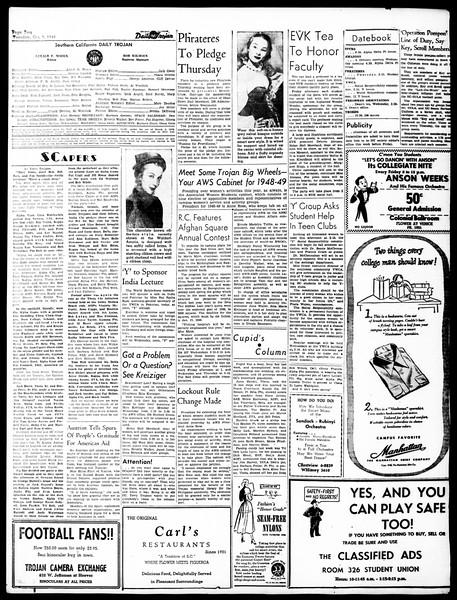 Daily Trojan, Vol. 40, No. 17, October 05, 1948