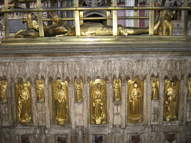 Tomb of Richard Beauchamp, father-in-law of Warwick, the Kingmaker, in St. Mary's Church, Warwick.